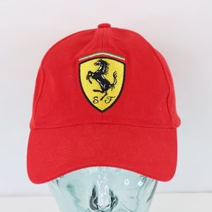 Vintage Ferrari Racing Spell Out Cotton Dad Hat